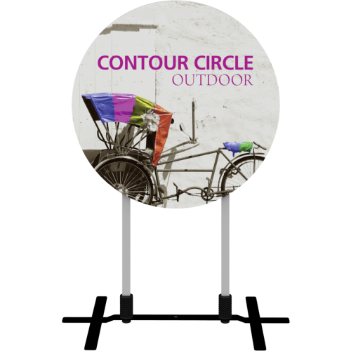 Contour Outdoor Sign Circle - Plate Base