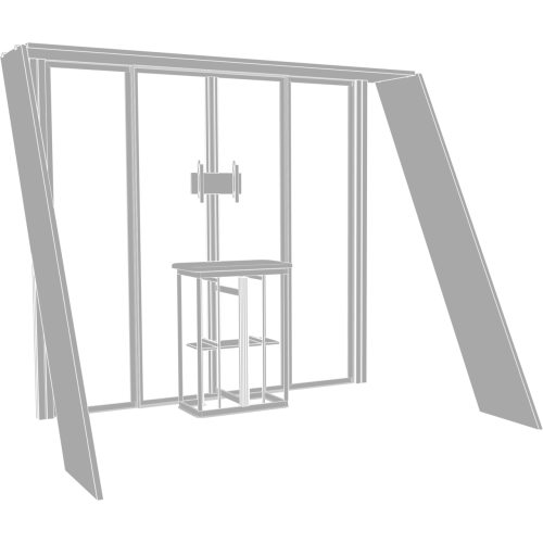 Hybrid Pro 10ft Modular Backwall Kit 07