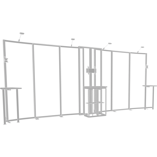 Hybrid Pro 20ft Modular Backwall Kit 09