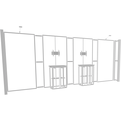 Hybrid Pro 20ft Modular Backwall Kit 13