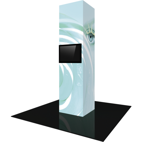 Vector Frame Modular Backlit Monitor Tower 05 (3' x 12')