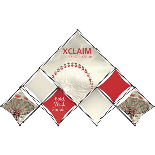 Xclaim 14ft 10 Quad Pyramid Fabric Popup Display Kit 03