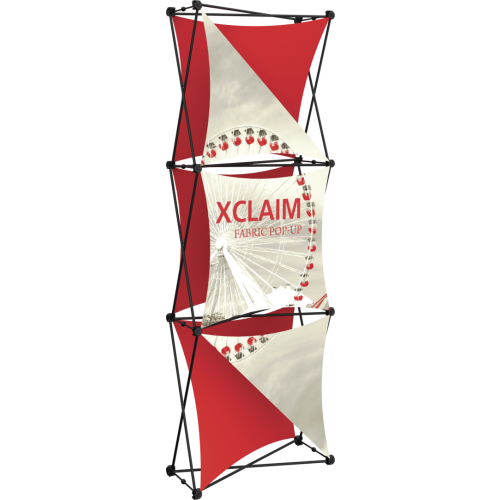 Xclaim 2.5ft Fabric Popup Display Kit 04