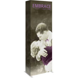 Embrace 2.5ft Full Height Push-Fit Tension Fabric Display