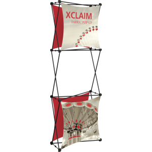 Xclaim 2.5ft Fabric Popup Display Kit 03